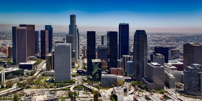 בניינים ונוף בלוס אנג'לס - ארצות הברית