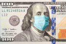 """שטר דולר ארה""""ב עם מסכת קורונה"""