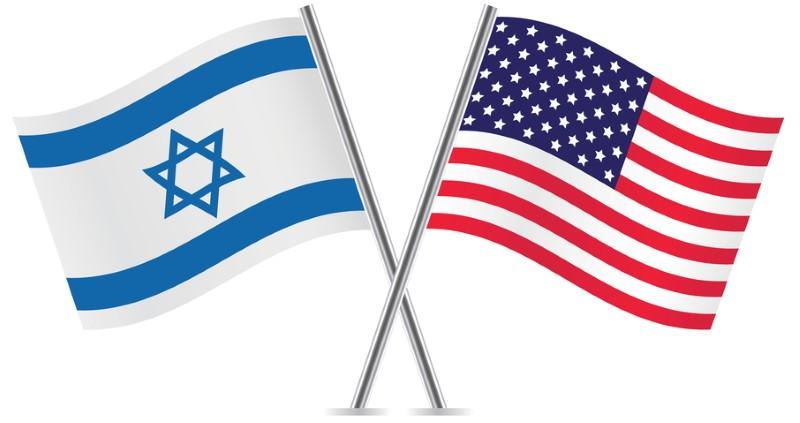 דגל ישראל עם דגל ארצות הברית